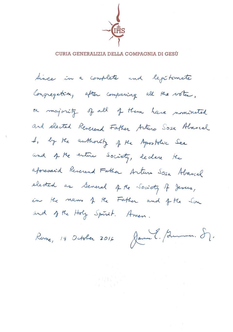 Decree of Election--2